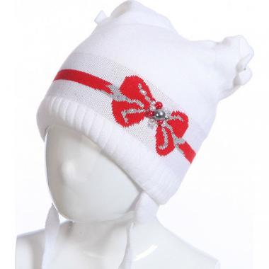 Зимняя шапка на изософте BARBARAS для девочки (белый), 4-8 лет
