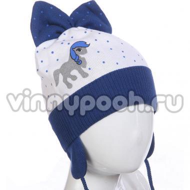 Весенняя шапочка AGBO для девочки ULA (синий), 3-6 лет