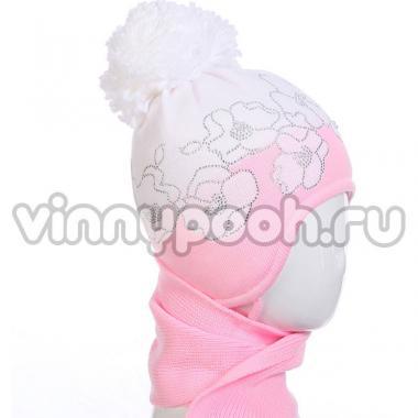 """Комплект для девочки AMBRA """"Цветы"""" (розовый/белый), 3-5 лет"""