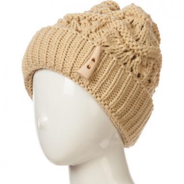 Зимняя шапка TOMS для девочки САМАНТА (бежевая), 10-16 лет
