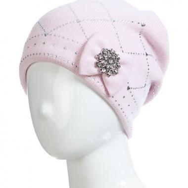 Зимняя шапка BARBARAS для девочки КАРОЛИНА (розовая), 10-15 лет