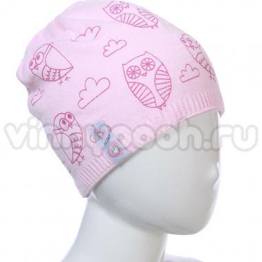 Весенняя шапка AGBO для девочки CHMURKA (розовая), 5-10 лет