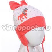 Весенняя шапочка AGBO для девочки ULA (коралл), 3-6 лет