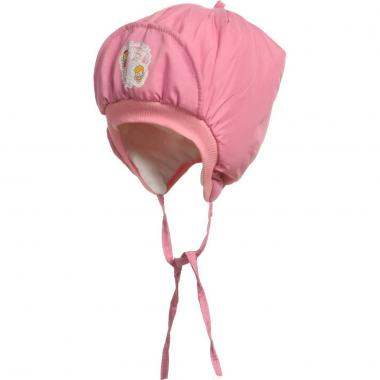 """Шапка PumPon для девочки """"Пингвинчик"""" (розовая), 0,5-1,5 лет"""