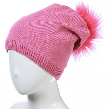 Зимняя шапка AGBO для девочки STASIA (розовая), 9-16 лет