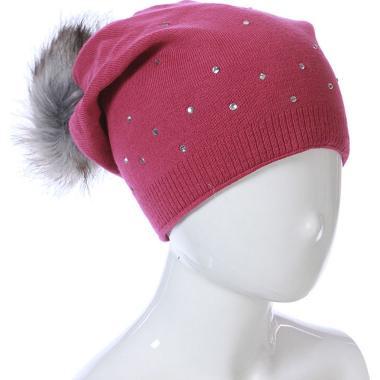 Зимняя шапка GRANS для девочки (слива), 9-16 лет
