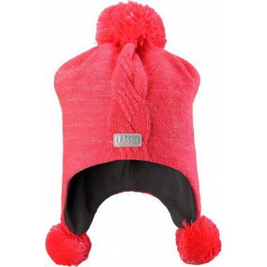 Зимняя шапка Lassie для девочки (малиновый), 6-13 лет