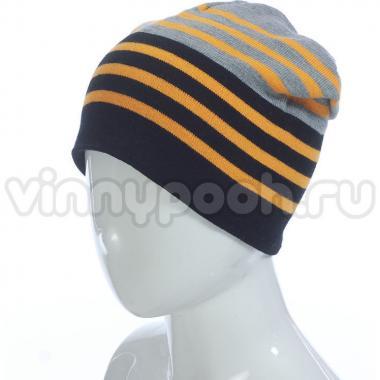 Весенняя шапка GRANS для мальчика (желтый/черный), 8-12 лет