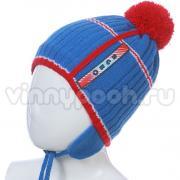 Весенняя шапка AGBO для мальчика ERVIN (синий/бордо), 2-5 лет