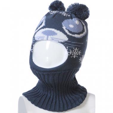 Шапка-шлем Kolad для мальчика с рисунком (синий), 9мес-2 года
