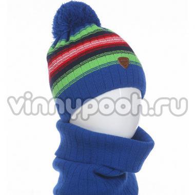 Зимний комплект AGBO для мальчика MIETEK (электрик/салат), 6-10 лет