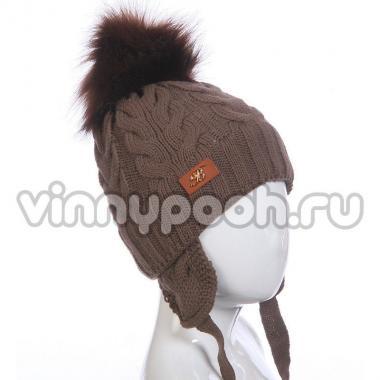 Зимняя шапка для мальчика SPORT (шоколад), 3-5 лет