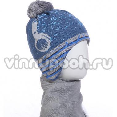 Зимний комплект AGBO для мальчика BRALANT (джинс/серый), 3-5 лет