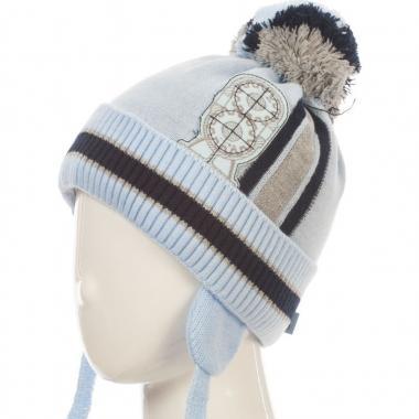 Зимняя шапка HILLTOP для мальчика HIP1725 (голубая), 3-5 лет