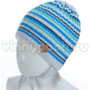Весенняя шапка GRANS для мальчика (серый/бирюза), 2-4 года