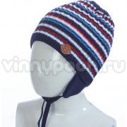 Весенняя шапка GRANS для мальчика (синий/красный), 2-4 года