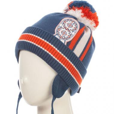 Зимняя шапка HILLTOP для мальчика HIP1725 (джинс), 3-5 лет