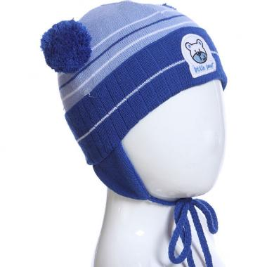 Весенняя шапка AGBO для мальчика MISH (синий/голубой), 1-2 года