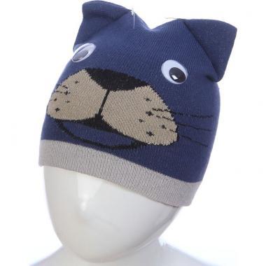 Весенняя шапка ANPA для мальчика ТИМ (синяя), 1-2 года