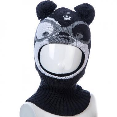 Шапка-шлем Kolad для мальчика с рисунком КИМИ (т.серый), 9мес-2 года