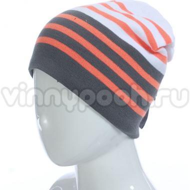 Весенняя шапка GRANS для мальчика (оранжевый/хаки), 8-12 лет