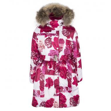 Зимнее пальто БАТИК для девочки ВАЛЕНТИНА (бордо), 5-8 лет