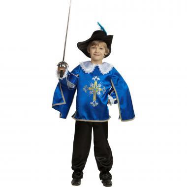 """Детский карнавальный костюм """"Мушкетер"""" (синий), 2-13 лет"""