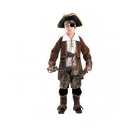 """Детский карнавальный костюм """"Капитан Пиратов"""" (коричневый) 4-13 лет"""