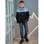 Свитшот АВРОРА для мальчика ТИМС (синий/голубой), 6-13 лет