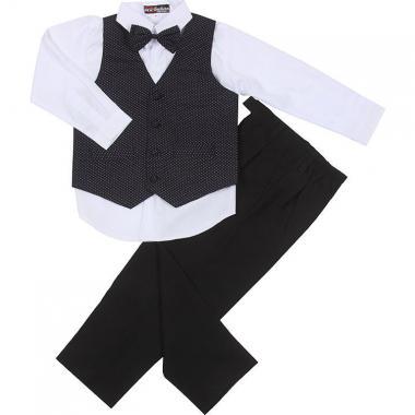 Детский праздничный комплект для мальчика (черный/крапинка), 1 - 5 лет
