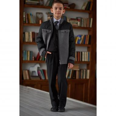 Демисезонное полупальто Mamma Mila для мальчика (серый), 7-15 лет