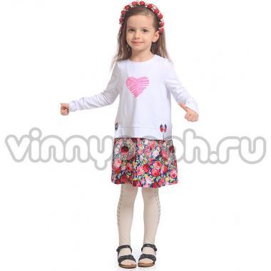 Платье для девочки Mini-Maxi (син.розы), 3-6 лет