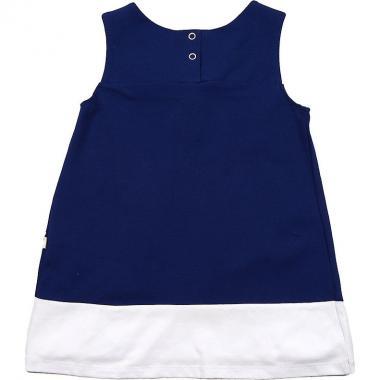 Платье для девочки Mini-Maxi с розочками (синий/белый), 3-7 лет