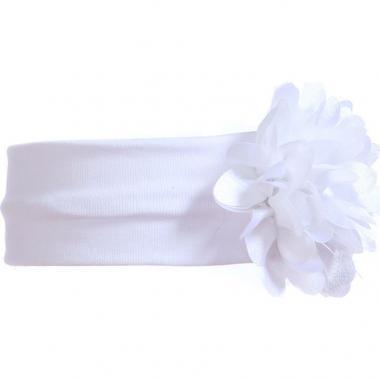 Трикотажная повязка для девочки ХРИЗАНТЕМА (белая), 2-6 лет
