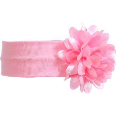 Трикотажная повязка для девочки ХРИЗАНТЕМА (розовая), 2-6 лет