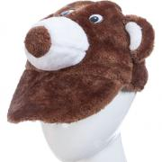 Карнавальная шапочка МЕДВЕДЬ БУРЫЙ (коричневая), 10-60 лет