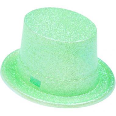 Шляпа-цилиндр КАБАРЕ (зеленая), 10-60 лет