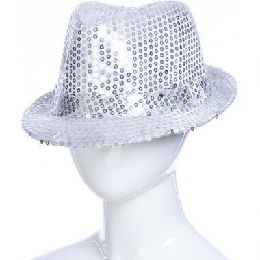 Карнавальная шляпа с подсветкой ДЭНС (белая), 12-60 лет