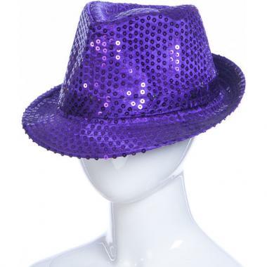 Карнавальная шляпа с подсветкой ДЭНС (сиреневая), 12-60 лет