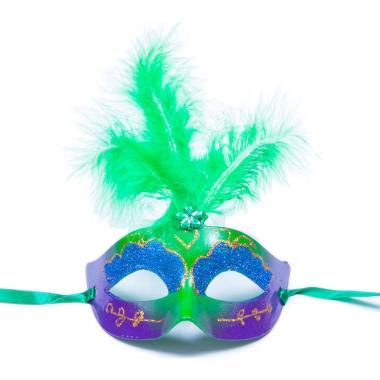 Карнавальная маска Перья (салатовый), 8-20 лет