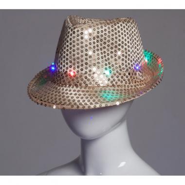 Карнавальная шляпа с подсветкой ДЭНС (черная), 12-60 лет