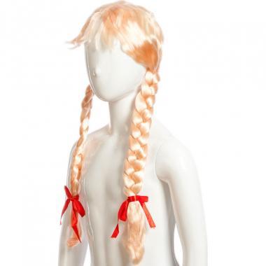 Парик карнавальный с косами (блонд), 7-50 лет