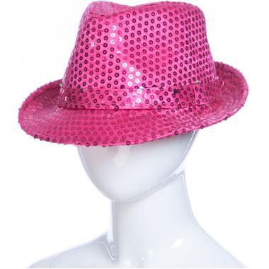 Карнавальная шляпа с подсветкой ДЭНС (розовая), 12-60 лет