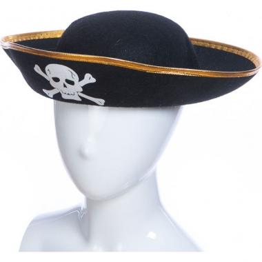 Карнавальная шляпа КОРСАР (черная), 12-60 лет