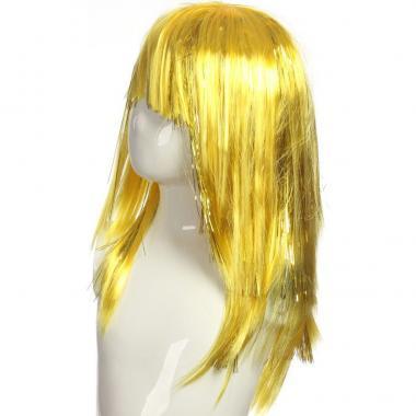 Парик карнавальный длинный цветной (желтый), 7-50 лет