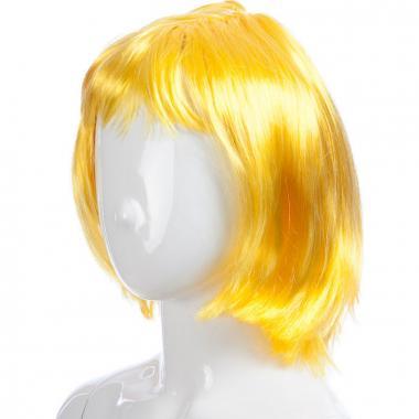 Парик карнавальный короткий ЛОЛА (желтый), 7-50 лет