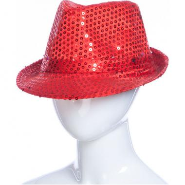 Карнавальная шляпа с подсветкой ДЭНС (красная), 12-60 лет