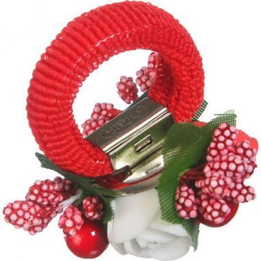 Заколка-резинка для девочки (синий/красный)