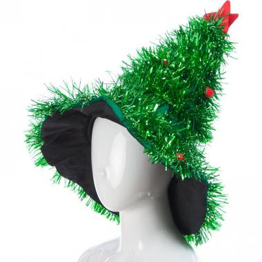 Новогодняя шапочка ЕЛОЧКА КРАСАВИЦА (зеленая), 10-60 лет