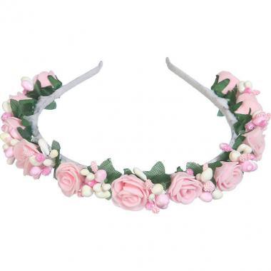 Нарядный ободок для девочки (розовый)